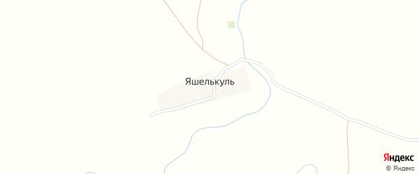 Горная улица на карте деревни Яшелькуля с номерами домов