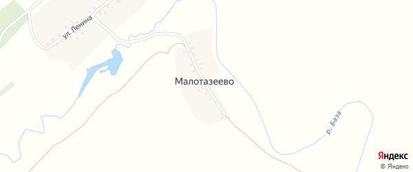 Улица Ленина на карте деревни Малотазеево с номерами домов