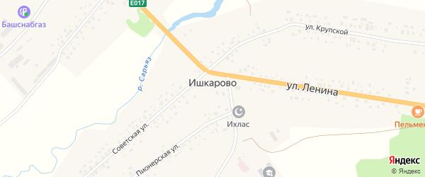 Пионерская улица на карте села Ишкарово с номерами домов