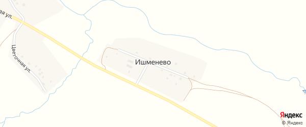 Речная улица на карте деревни Ишменево с номерами домов