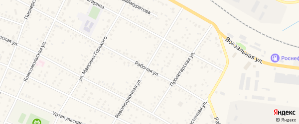Революционная улица на карте села Буздяк с номерами домов