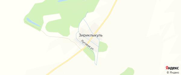 Карта деревни Зириклыкуля в Башкортостане с улицами и номерами домов