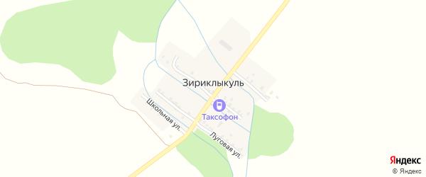 Озерная улица на карте деревни Зириклыкуля с номерами домов