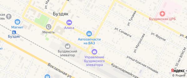 Улица Красная Площадь на карте села Буздяк с номерами домов