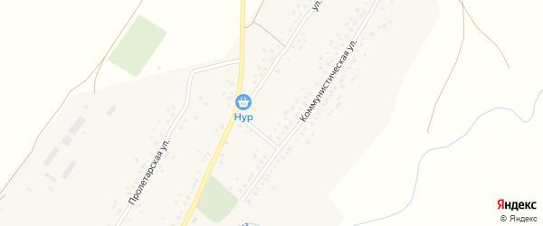 Безымянный переулок на карте села Менеузтамака с номерами домов