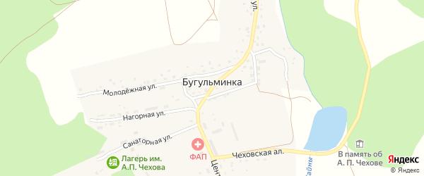 Южная улица на карте деревни Бугульминки с номерами домов