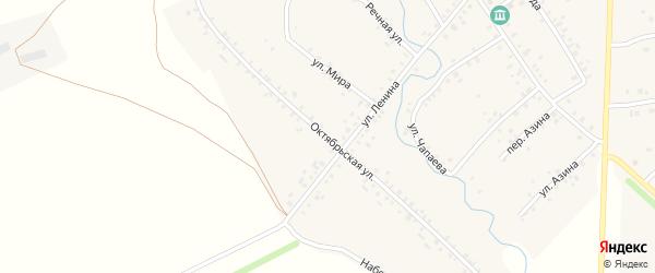 Октябрьская улица на карте села Карманово с номерами домов