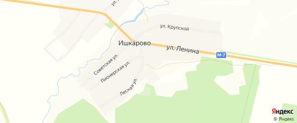 Карта села Ишкарово в Башкортостане с улицами и номерами домов