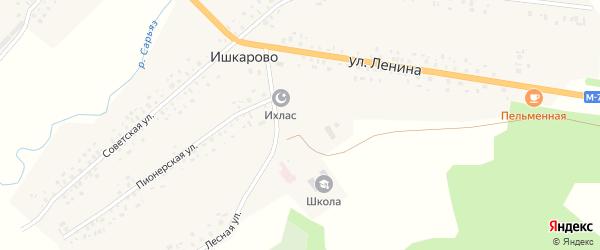 Улица Крупской на карте села Ишкарово с номерами домов