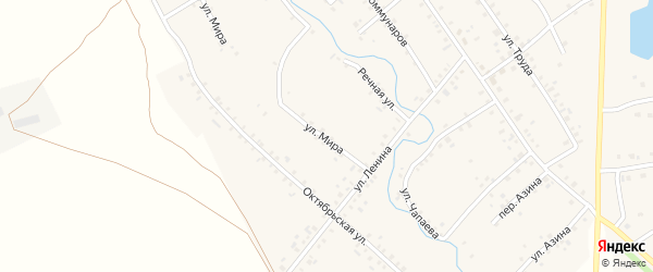 Улица Мира на карте села Карманово с номерами домов
