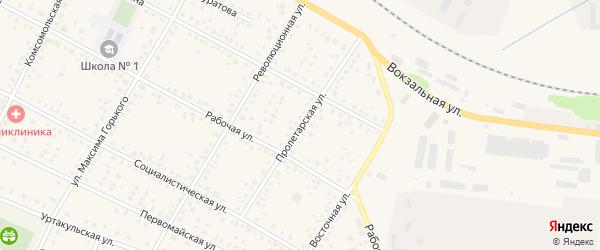 Пролетарская улица на карте села Буздяк с номерами домов