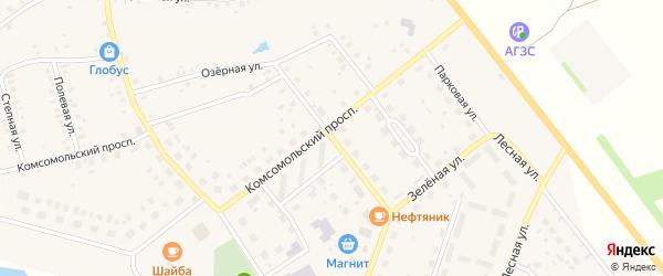 Цветочная улица на карте села Куяново с номерами домов