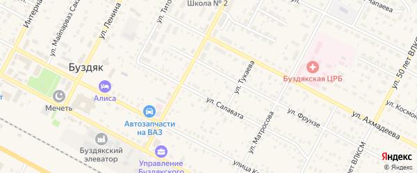 Улица Шайхутдинова на карте села Буздяк с номерами домов