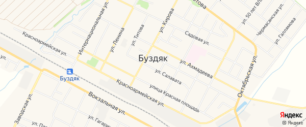 Карта села Буздяк в Башкортостане с улицами и номерами домов