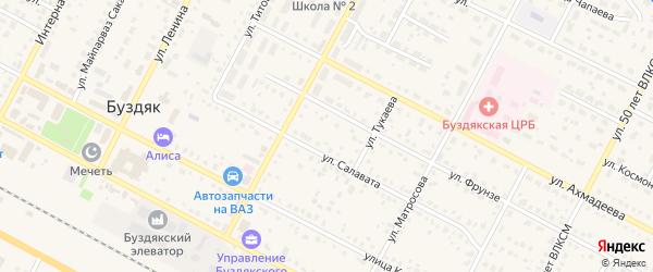 Шоссейная улица на карте села Буздяк с номерами домов