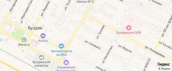 Улица М.Халикова на карте села Буздяк с номерами домов