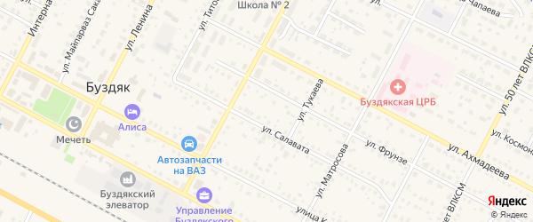 Новая улица на карте села Буздяк с номерами домов