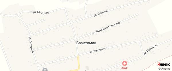 Улица М.Горького на карте села Базитамака с номерами домов