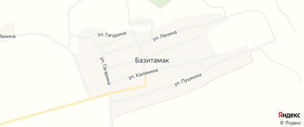 Карта села Базитамака в Башкортостане с улицами и номерами домов