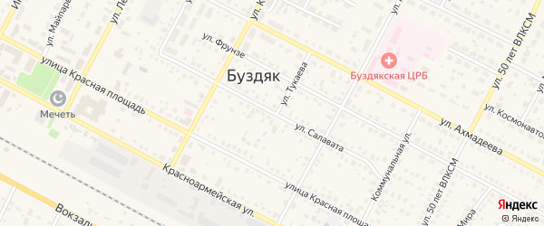 Улица Салавата на карте села Буздяк с номерами домов