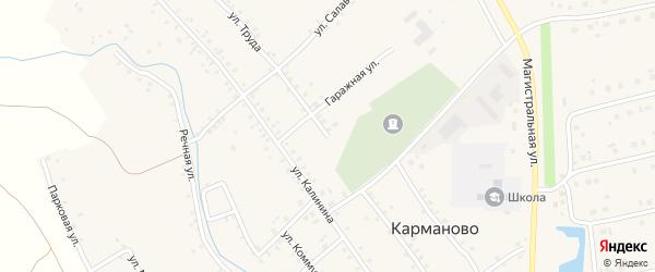 Улица Труда на карте села Карманово с номерами домов