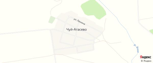 Карта деревни Чуй-Атасево в Башкортостане с улицами и номерами домов
