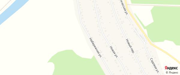 Набережная улица на карте села Куяново с номерами домов