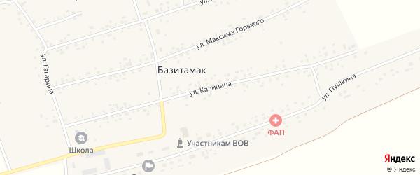 Улица Калинина на карте села Базитамака с номерами домов