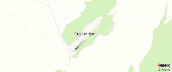Карта деревни Старые Чупты в Башкортостане с улицами и номерами домов