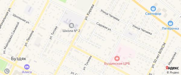 Улица Комарова на карте села Буздяк с номерами домов