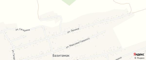 Улица Ленина на карте села Базитамака с номерами домов