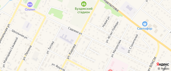Садовая улица на карте села Буздяк с номерами домов