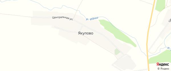Карта села Якупово в Башкортостане с улицами и номерами домов