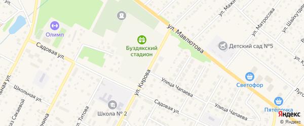 Улица Кирова на карте села Буздяк с номерами домов