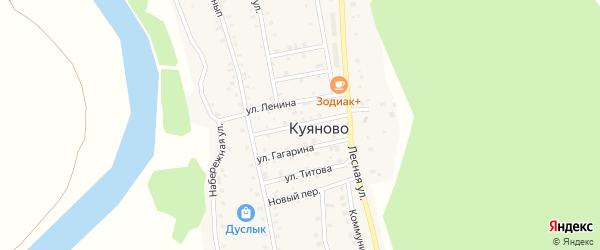 Улица Нефтяников на карте села Куяново с номерами домов