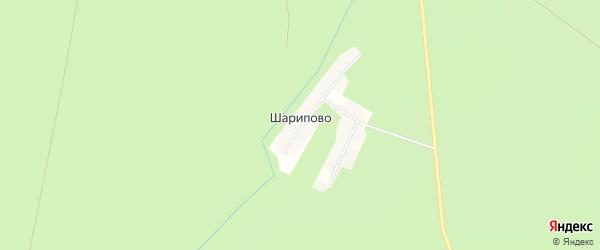 Карта деревни Шарипово в Башкортостане с улицами и номерами домов