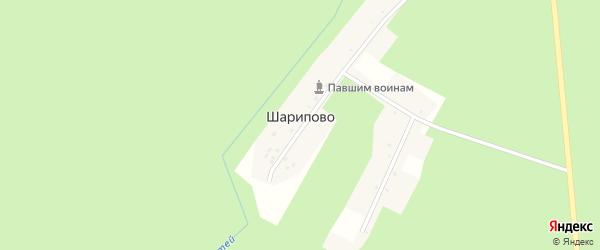 Вторая улица на карте деревни Шарипово с номерами домов