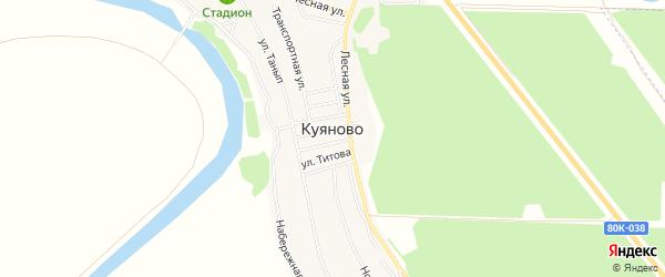 Карта села Куяново в Башкортостане с улицами и номерами домов