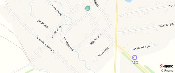 Улица Чапаева на карте села Карманово с номерами домов