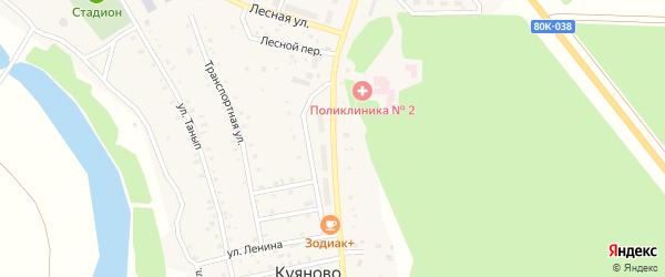 Лесная улица на карте села Куяново с номерами домов
