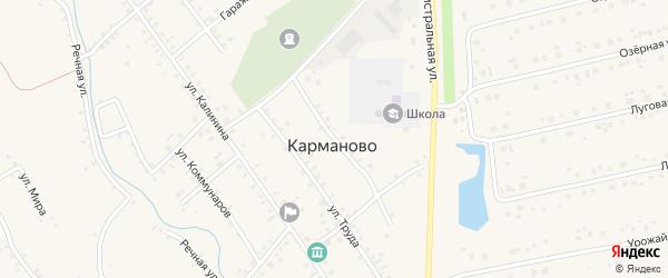 Партизанская улица на карте села Карманово с номерами домов