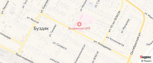 Улица В.Ахмадеева на карте села Буздяк с номерами домов