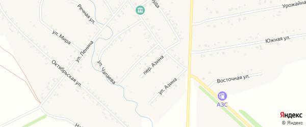 Переулок Азина на карте села Карманово с номерами домов