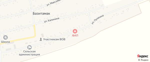 Улица Пушкина на карте села Базитамака с номерами домов