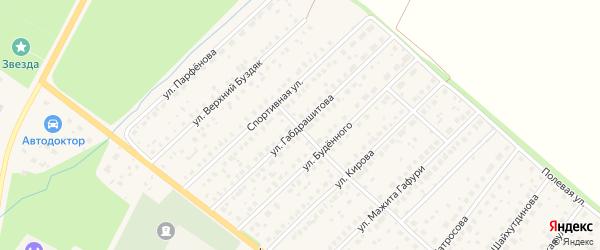 Улица Габдрашитова на карте села Буздяк с номерами домов