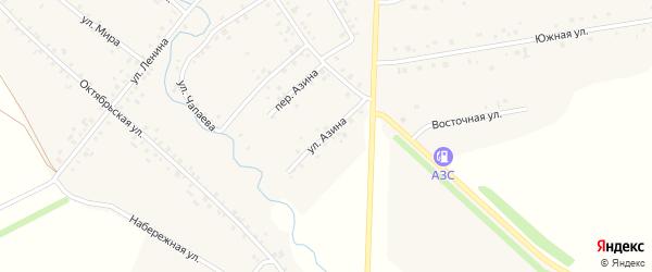 Улица Азина на карте села Карманово с номерами домов