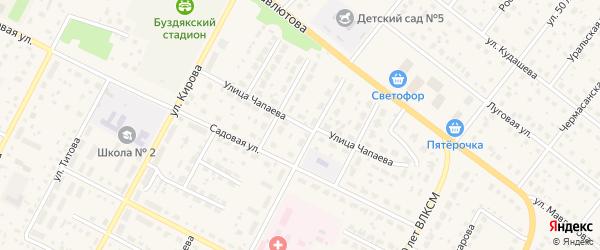 Улица Чапаева на карте села Буздяк с номерами домов