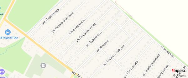 Улица Буденного на карте села Буздяк с номерами домов