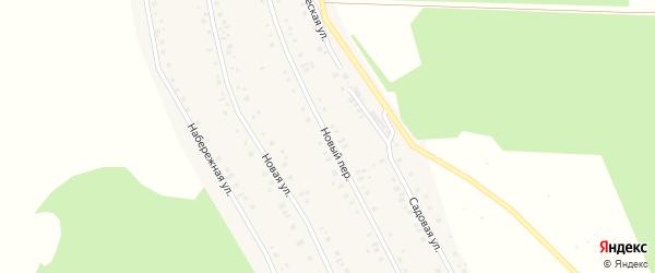 Новый переулок на карте села Куяново с номерами домов