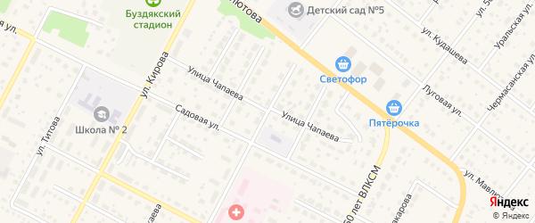 Улица Матросова на карте села Буздяк с номерами домов